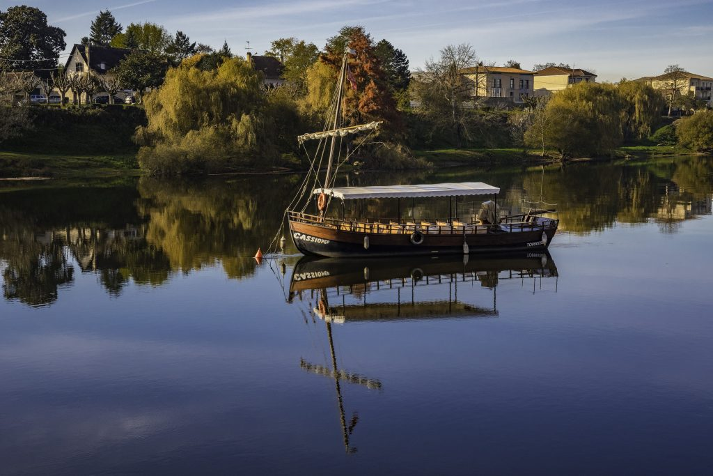barca sulla Dordogna a bergerac