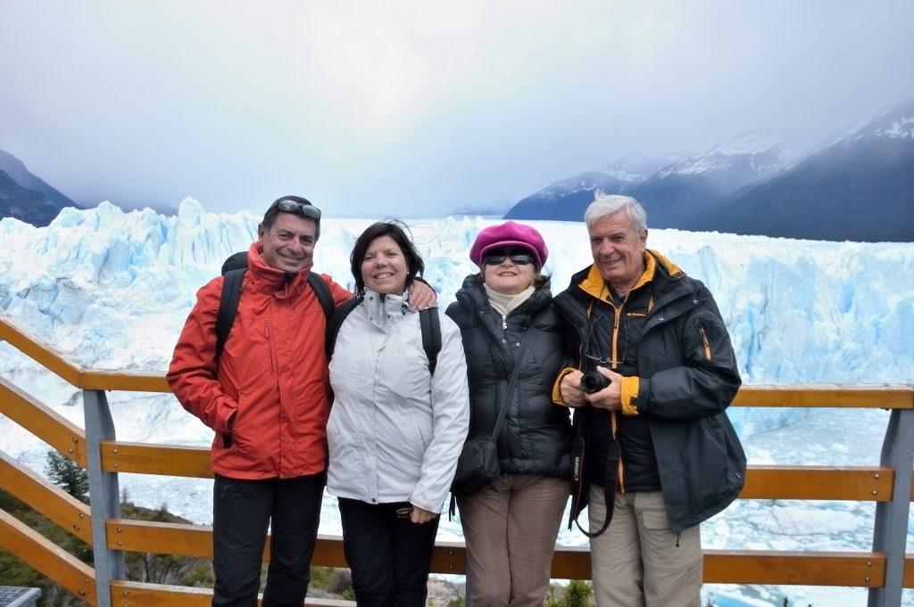foto di gruppo al Perito Moreno