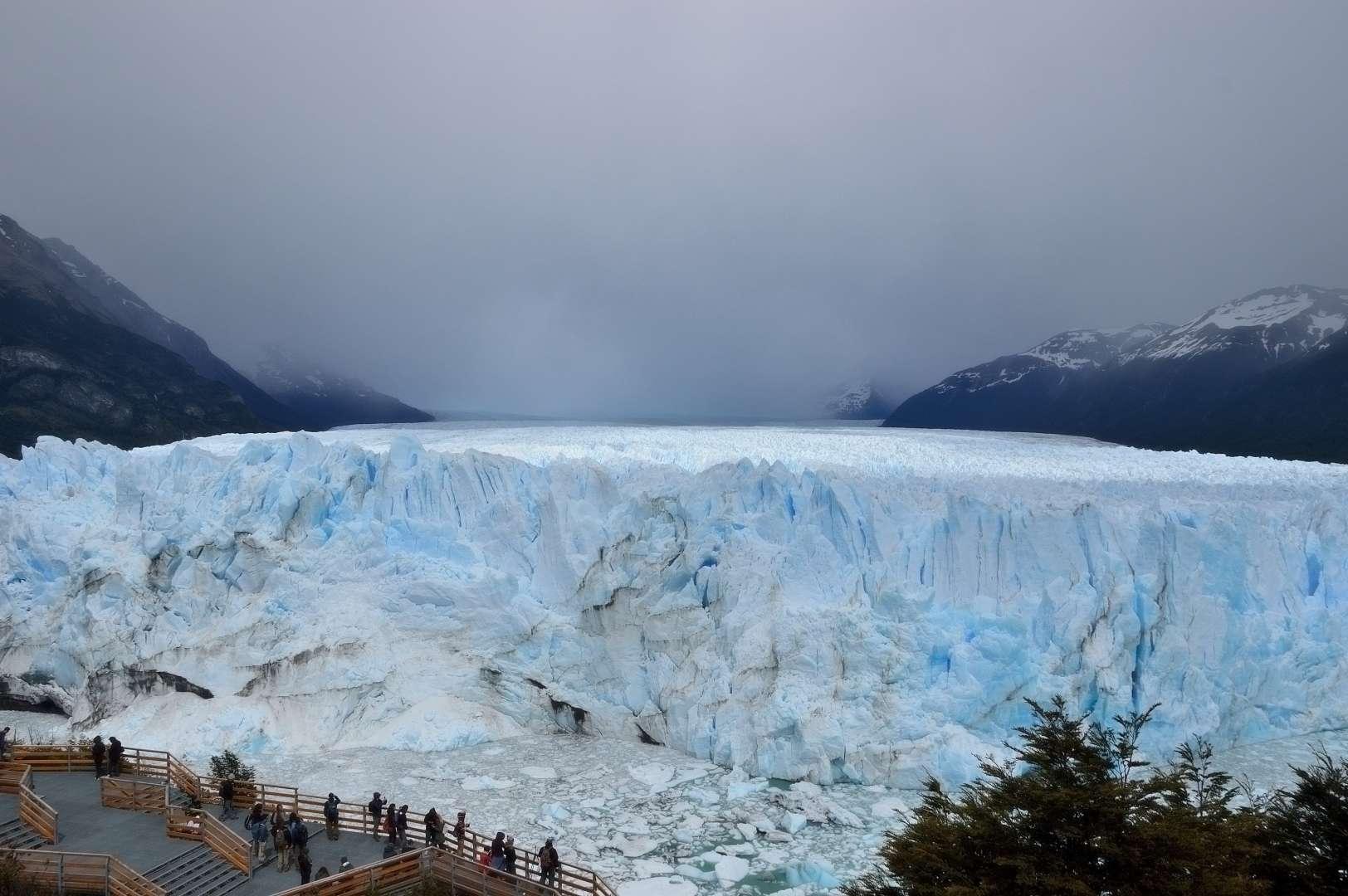 Il Perito Moreno visto dalla pesserella