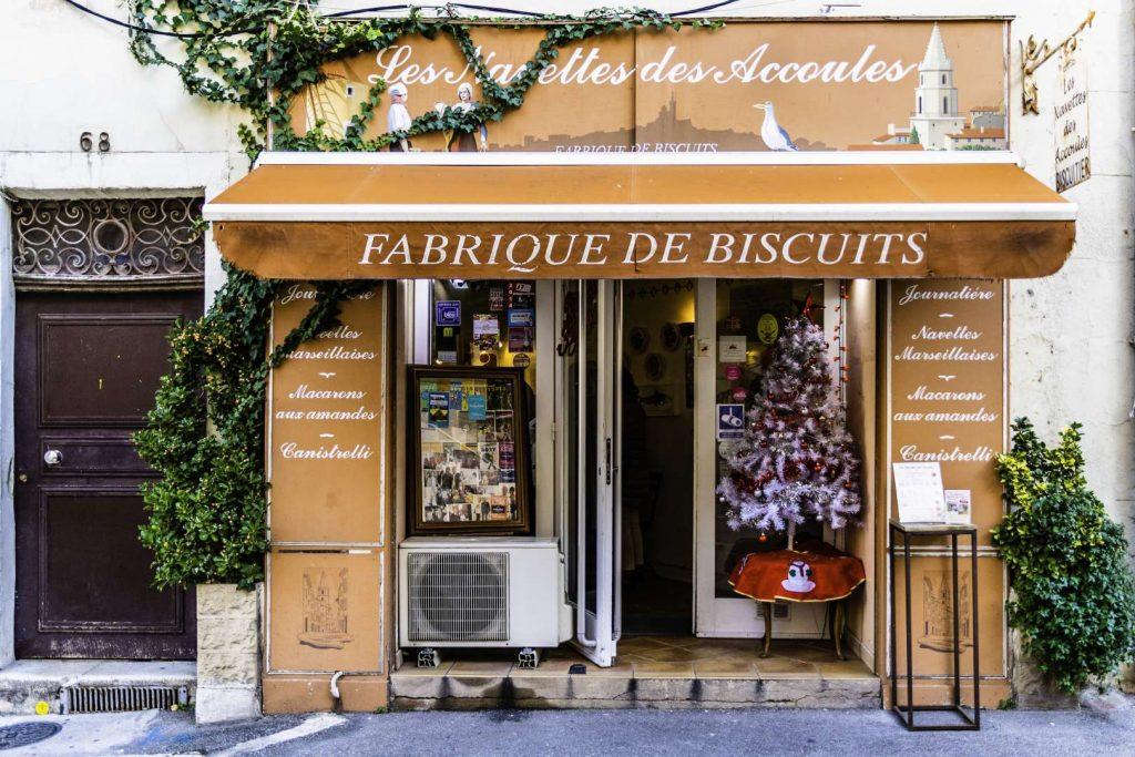 l'entrata del forno Les Navettes des Accules che si trova nel quartiere del Panier