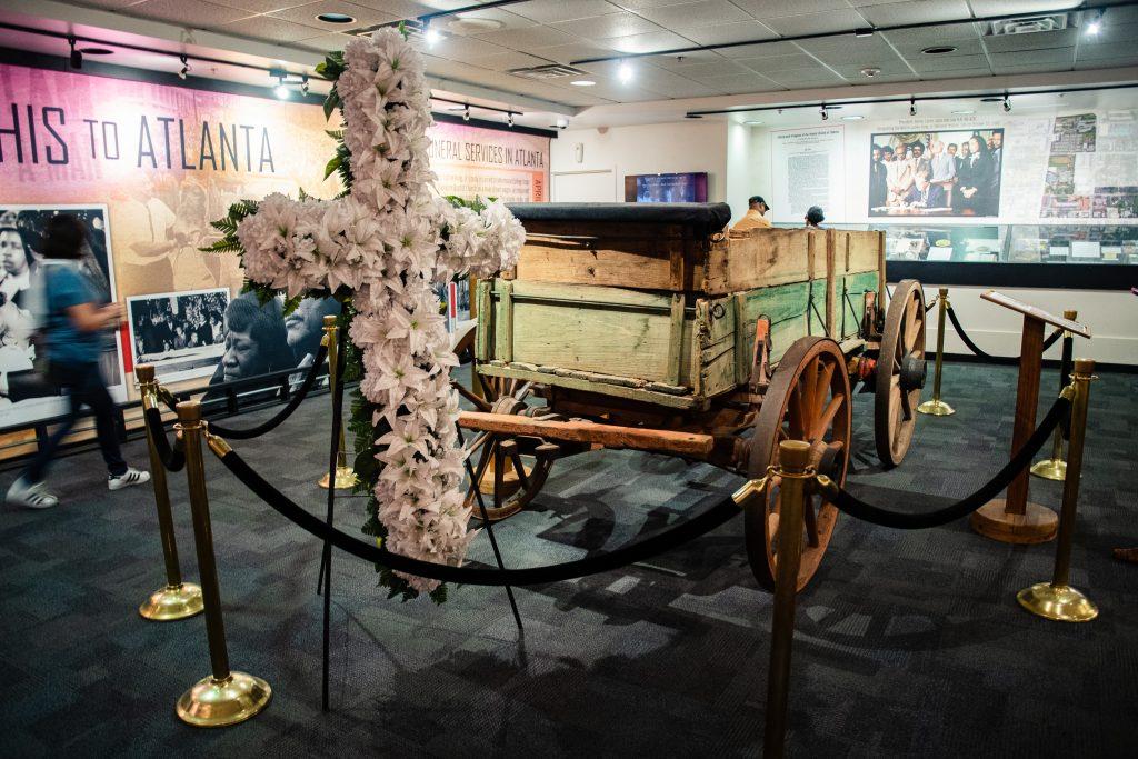 Il carro utilizzato per il funerale di King