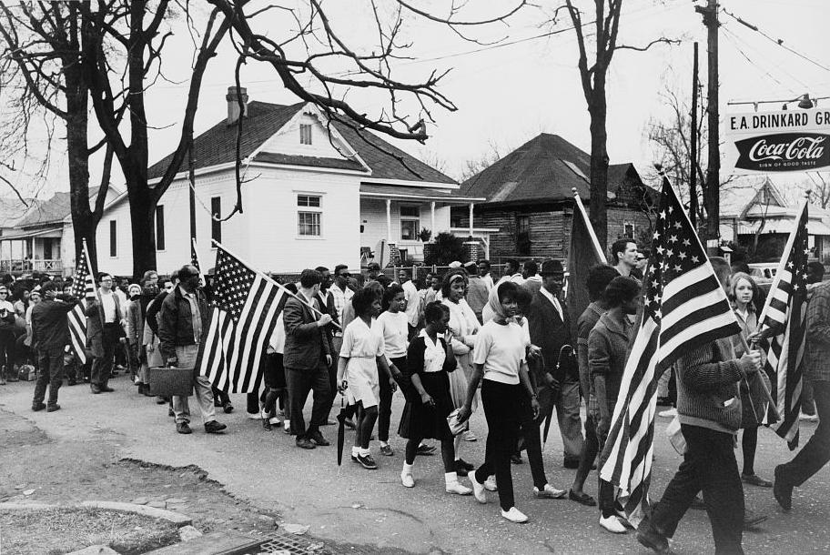 una immagine di archivio della marcia di Selma