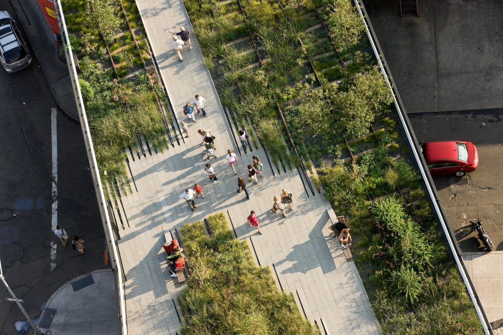 La High Line vista dall'alto