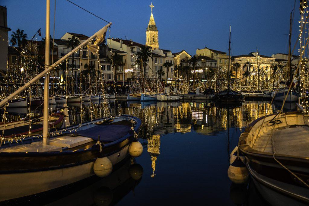 scorcio del porto di Sanary-sur-mer