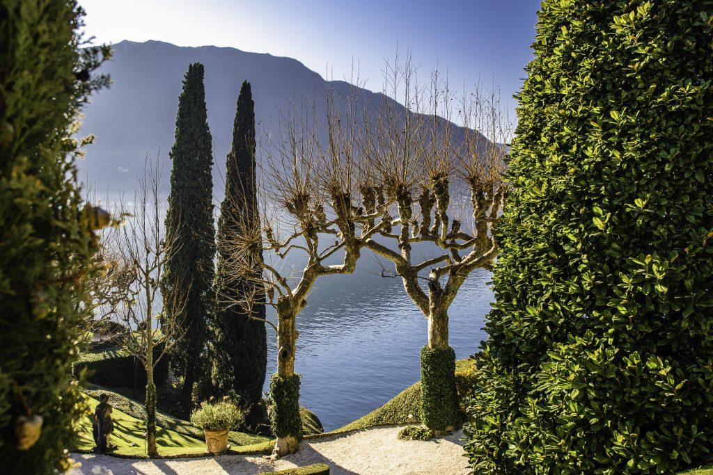particolare del giardino della Villa che si trova a Lenno