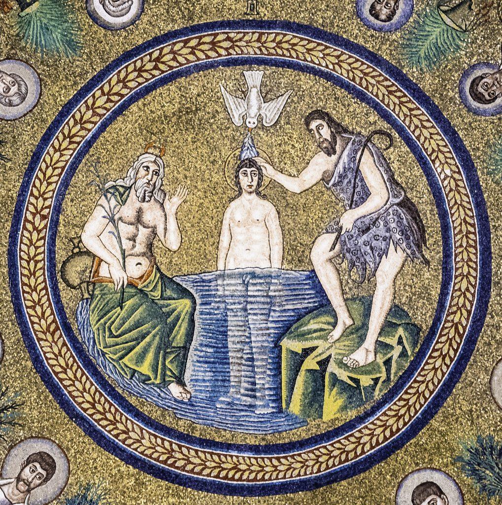 dettaglio del mosaico del Battistero degli Ariani