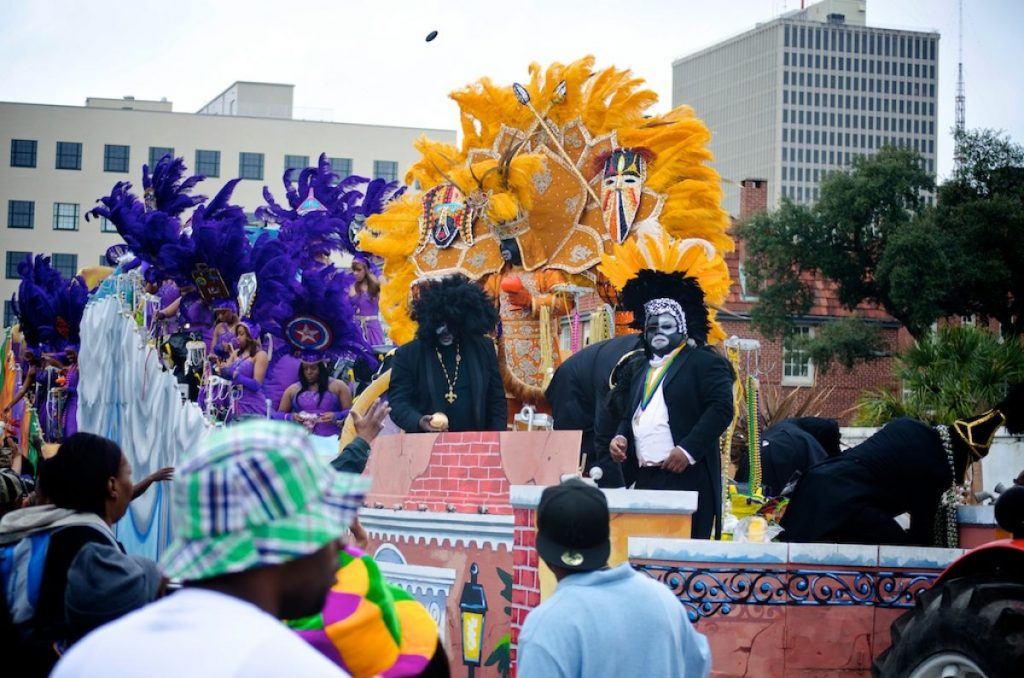 uno dei carri per le sfilate di Carnevale a New Orleans